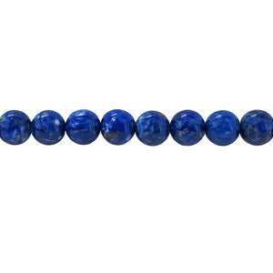 Lapis Lazuli - natural - 6 mm Round -  Per Strand Approx 64 Beads