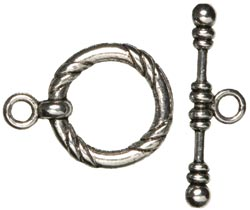 Jewelry Basics - Silver Large Rope Toggle - 3 sets