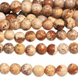 Picture Jasper - natural - 6 mm Round - Per Strand Approx 64 Beads