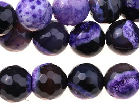 Purple Fire Agate - dyed - 8 mm Round Sold Per Strand Approx 48 Beads