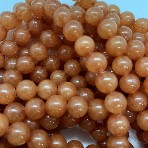 Red Aventurine - natural - 6 mm Round - Sold Per Strand Approx 64 Beads