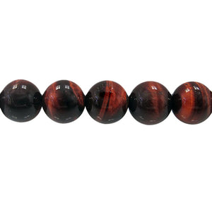 Red Tiger's Eye - Dyed - 6 mm Round - Sold per Strand Approx 64 Beads