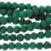 Green Lava - dyed - 6-7 mm Round - Sold Per Strand - Approx. 62 Beads