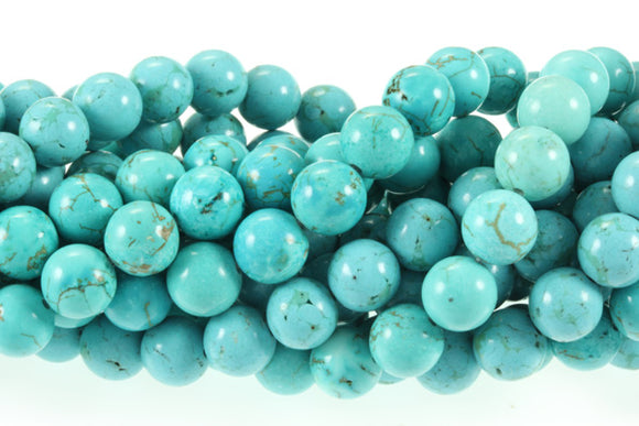 Turquoise 8 mm Round - Sold Per Strand Approx 48 Beads