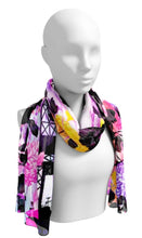 Paris Is Blooming Psychedelic Garden Long Scarf