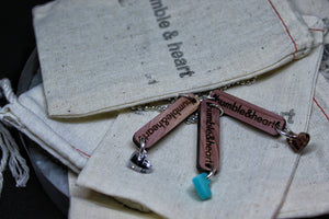 Aromatic Cedar h&h Tag Necklace