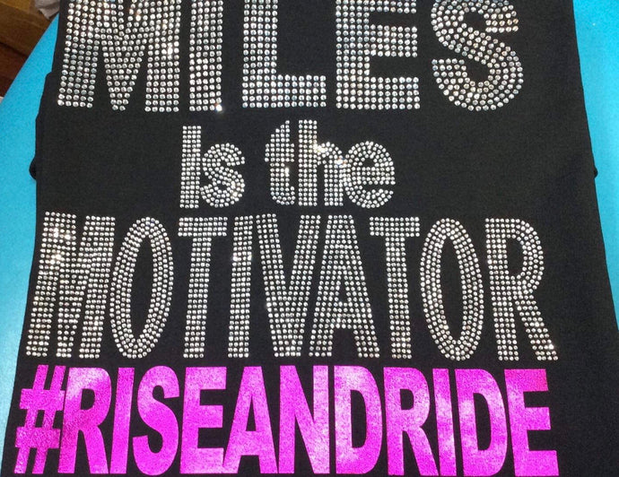 MILES IS THE MOTIVATION (BLING) shirt