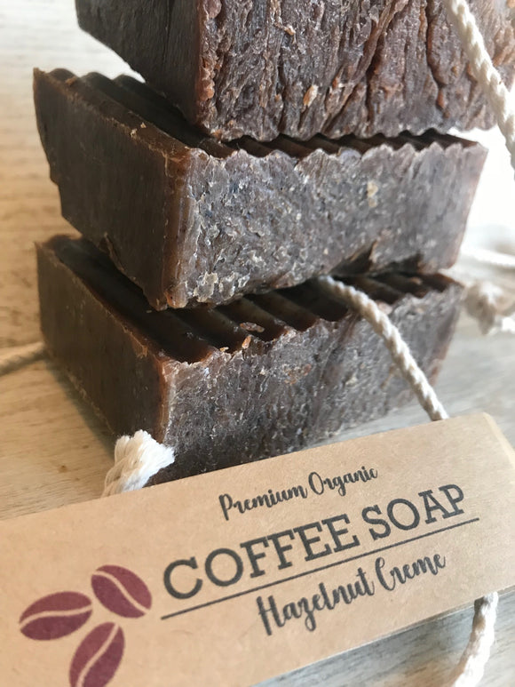 Premium Organic Coffee Soap on a Rope