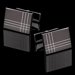 Men's Luxurious Checkered Cufflink