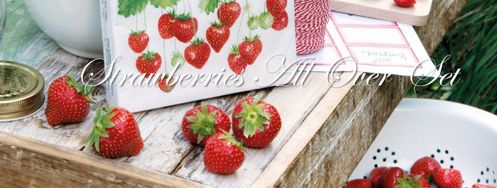 Strawberries All Over Set