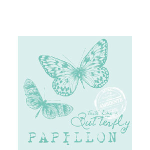 Load image into Gallery viewer, Cocktail Napkin - PAPILLON AQUA (Collection: 13307847)