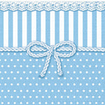 Cocktail Napkin - Bow BLUE