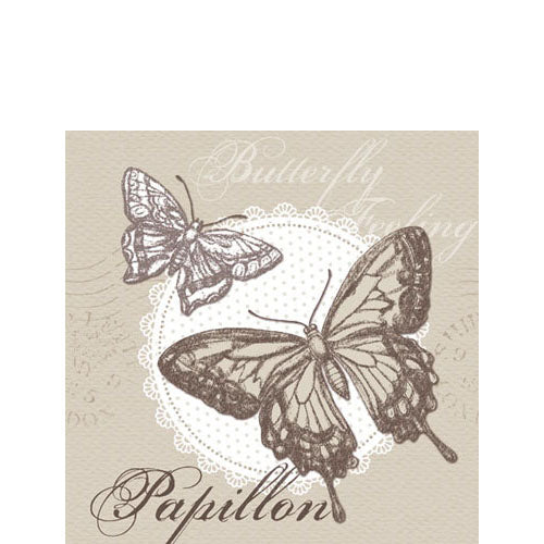 Cocktail Napkin - Butterfly Feeling SAND (Collection: 13308720)