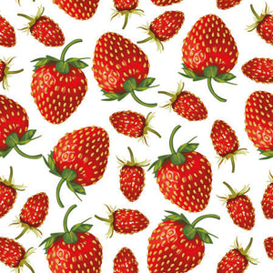 Load image into Gallery viewer, Cocktail Napkin - Strawberries
