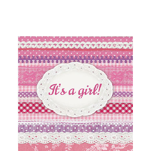 Cocktail Napkin - It's A Girl (Collection: 13311605)