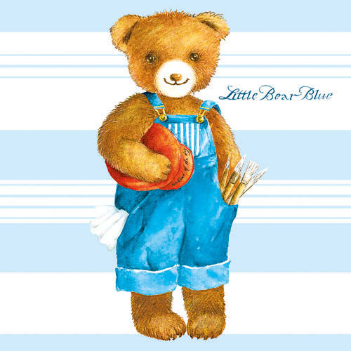 Lunch Napkin - LITTLE BEAR BLUE