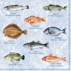 Load image into Gallery viewer, Lunch Napkin - Fishes