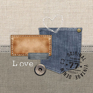 Lunch Napkin - Original Denim (Collection: 12511445)