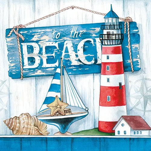 Lunch Napkin - To The Beach (Collection: 12511530)