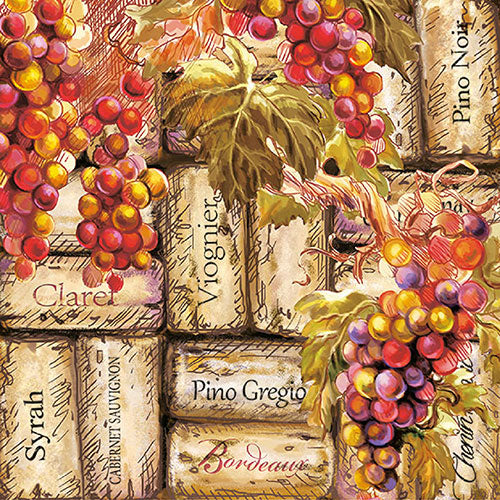 Load image into Gallery viewer, Lunch Napkin - Grapes & Corks (Collection: 12512385)