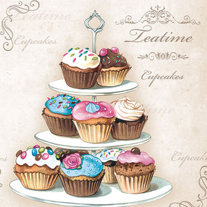 Lunch Napkin - Cupcakes on Etagere