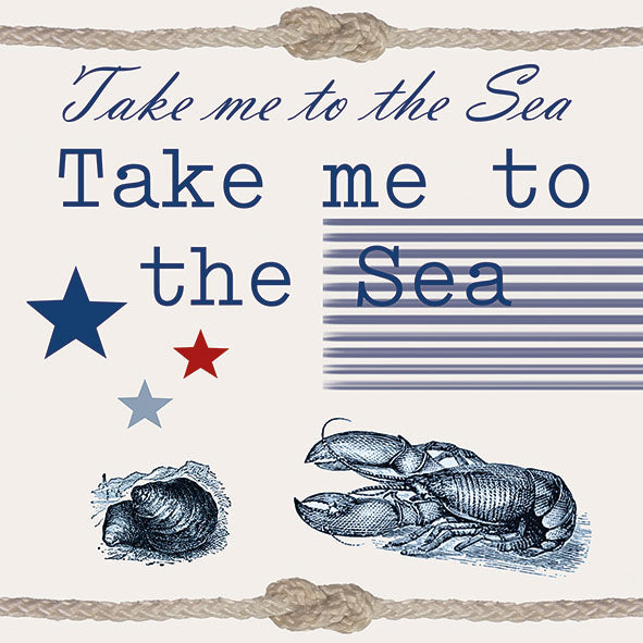 Load image into Gallery viewer, Lunch Napkin - Take Me to the Sea