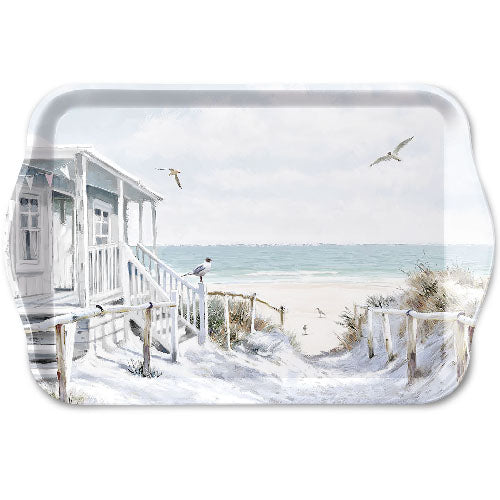 TRAY - Beach Cabin (13 x 21 cm) - COLLECTION