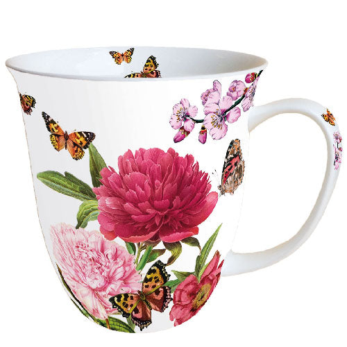 Load image into Gallery viewer, MUG (Fine Bone China) - Peonien WHITE (400 mL) - COLLECTION
