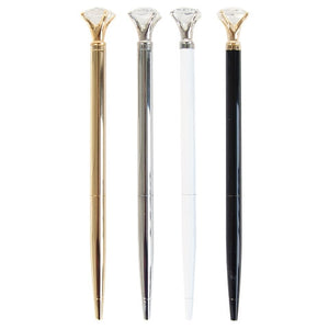 Writing Utensil - Luxury Pen with XL CRYSTAL Accent (WHITE)