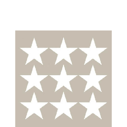 Cocktail Napkin - Stars Negative SAND (Collection: LM33304052)