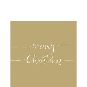 Cocktail Napkin - Christmas Note GOLD (Collection: 33311160)