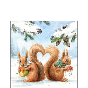 Cocktail Napkin - Squirrel Love (Collection: 33311910) - COLLECTION