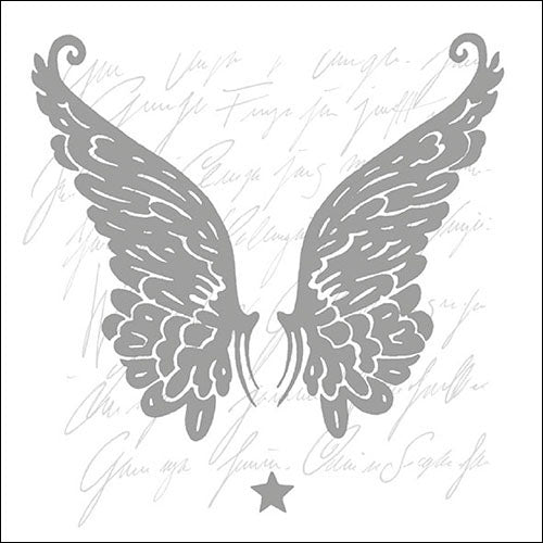 Lunch Napkin - Wings SILVER