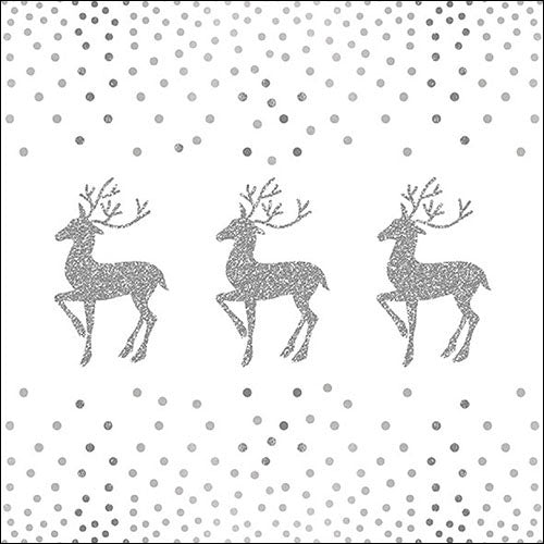 Lunch Napkin - Deer And Dots WHITE