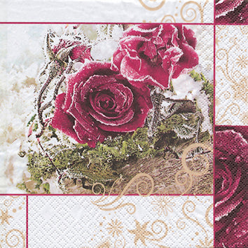 Cocktail Napkin - Frozen Roses (Collection: LH611208)