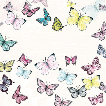 Cocktail Napkin - Butterfly WHITE (Collection: 13310000) - COLLECTION