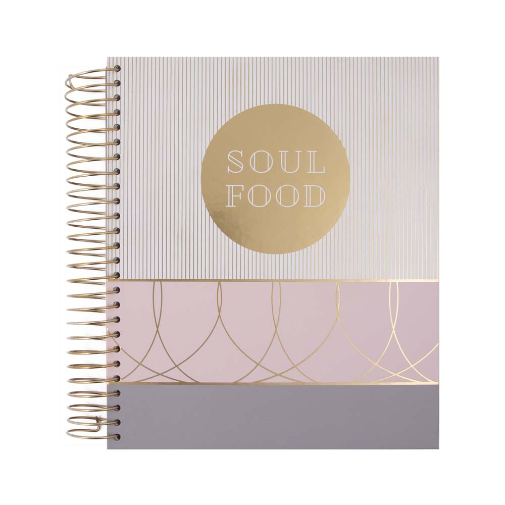 Recipe Folder - Classy Soul Food PINK/GREY