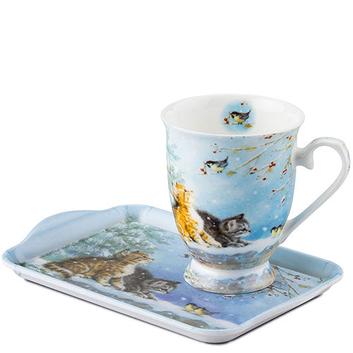 MUG (Fine Bone China) - Watching Birds (250 mL) - COLLECTION