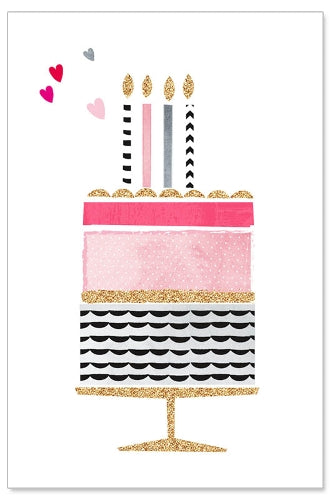 Greeting Card - Birthday (Glitter Cake)