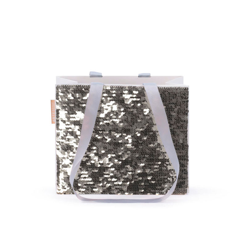 Gift Bag - Small Sequins SQUARE - GOLD/SILVER