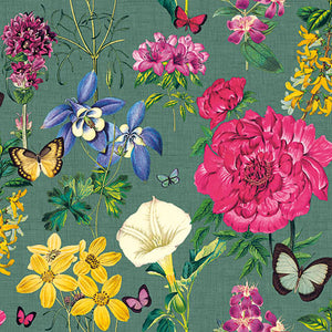 Cocktail Napkin - Botanical Florals GREEN (Collection: 13313997)
