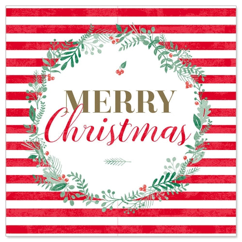 Greeting Card - Christmas Mini (Merry Christmas in Stripes RED)