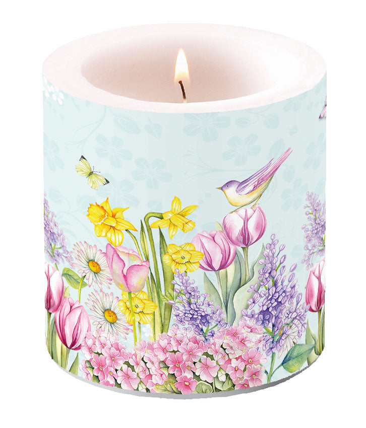 Candle SMALL - Blooming Garden TURQUOISE - COLLECTION