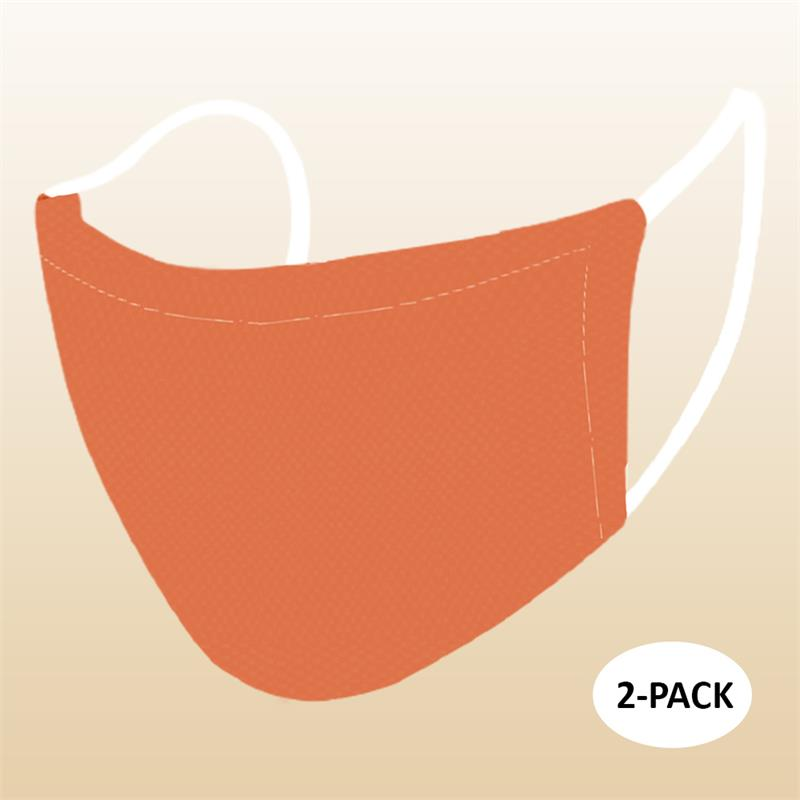 Face Mask - Orange (Kids) - 2 PACK