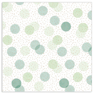Lunch Napkin - Dots GREEN-BLUE