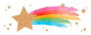 Greeting Card LONG - All Occasions (Gold Glitter Shooting Star)