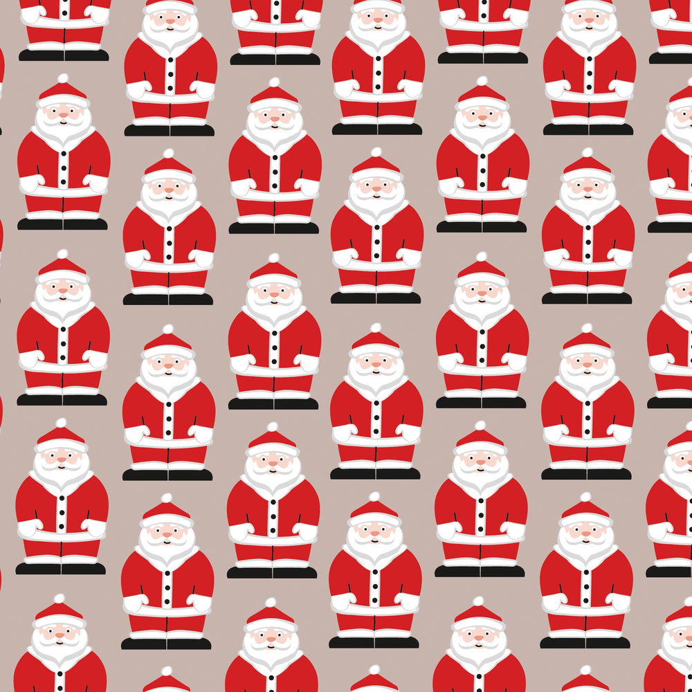 Lunch Napkin - Santa Pattern TAUPE