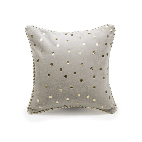 Cushion - Soft Velvet Cushion with Gold Dots Pattern