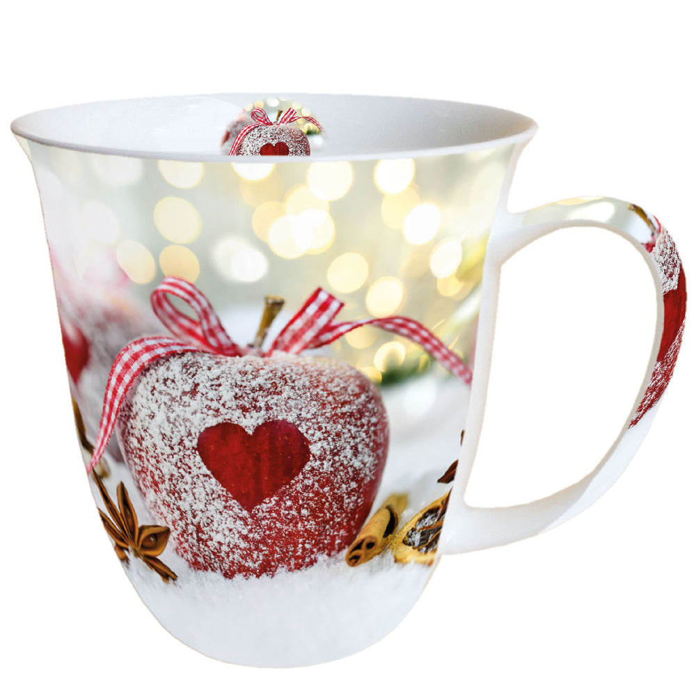 MUG (Fine Bone China) - Heart on Apple (400 mL) - COLLECTION