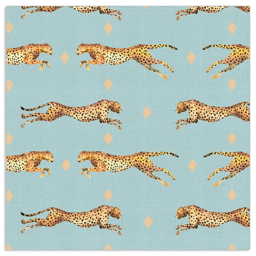 Load image into Gallery viewer, Lunch Napkin - Cheetah Pattern BLUE